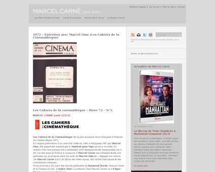 1972 entretien avec marcel oms les cahie Marcel