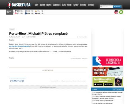 Porto rico mickael pietrus remplace Mickael