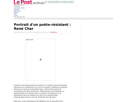 2119254 portrait d un poete resistant re Rene