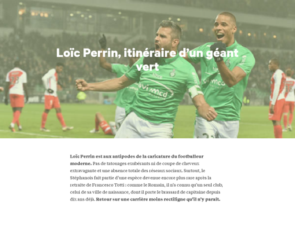 Football loic perrin geant vert Loic