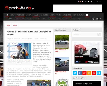 Formula e sebastien buemi vice champion  Sebastien