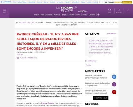 Patrice chereau persecution duris charlo Patrice