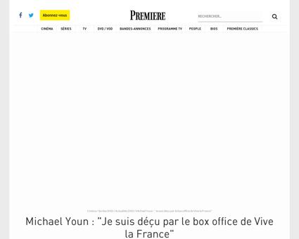 Michael Youn Je suis decu par le box off Michael