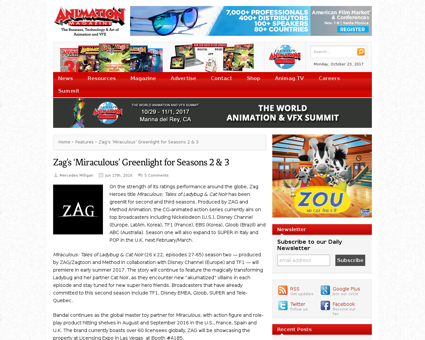 Zags miraculous greenlight for seasons 2 Jeremy