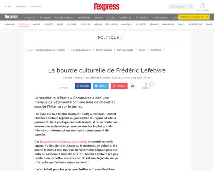 Frederic LEFEBVRE