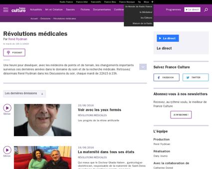 Emission revolutions medicales Rene