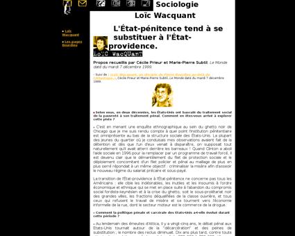 Loic WACQUANT
