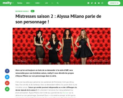 Mistresses saison 2 alyssa milano parle  Karen