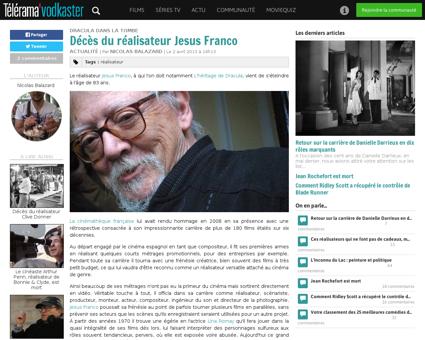 Deces realisateur Jesus Jess Franco mort Jess
