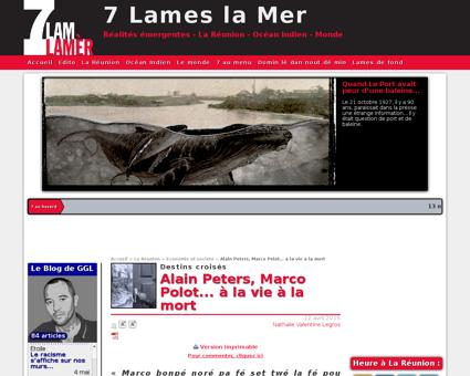 Alain peters marco polot a la vie 1323 Alain