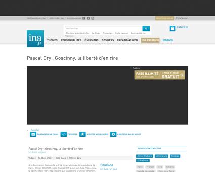 Pascal ory goscinny la liberte d en rire Rene