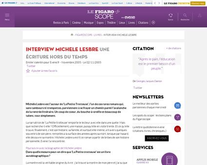 Interview michele lesbre 227 Michele