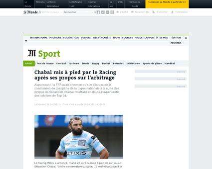 La federation francaise de rugby demande Sebastien