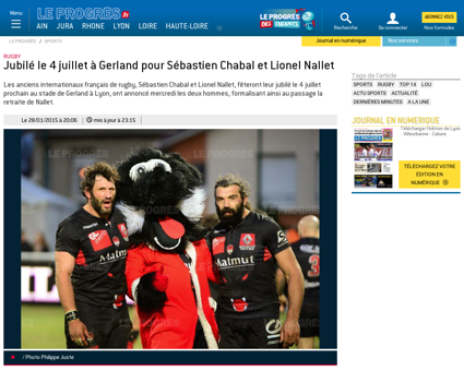 Sebastien chabal et lionel nallet annonc Sebastien