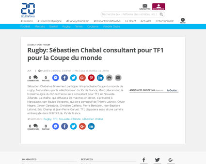 Rugby sebastien chabal consultant tf1 co Sebastien