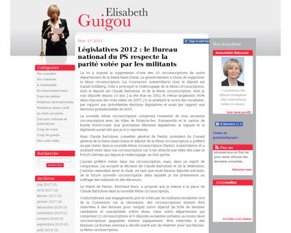 Legislatives 2012 le bureau national du  Elisabeth
