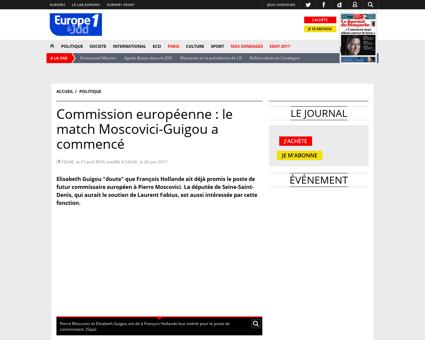 Commission europeenne le match Moscovici Elisabeth