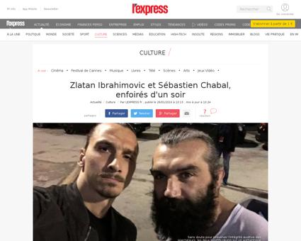 Zlatan ibrahimovic et sebastien chabal e Sebastien