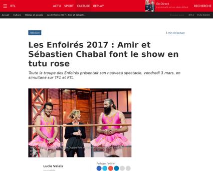 Les enfoires 2017 amir et sebastien chab Sebastien