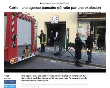 Corte agence bancaire detruite explosion Farid