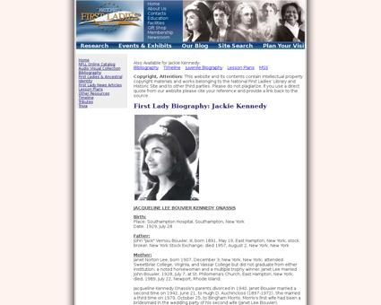 Firstladies x?biography=36 Jacqueline