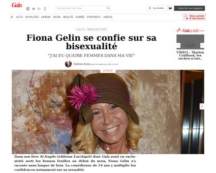 Fiona gelin se confie sur sa bisexualite Fiona