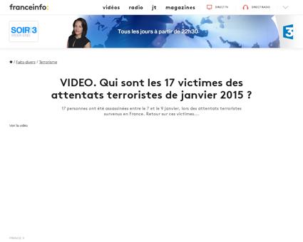 Video qui sont les 17 victimes des atten Ahmed