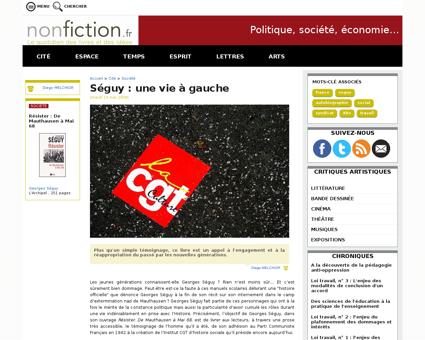 Article 1063 seguy  une vie a gauche Georges