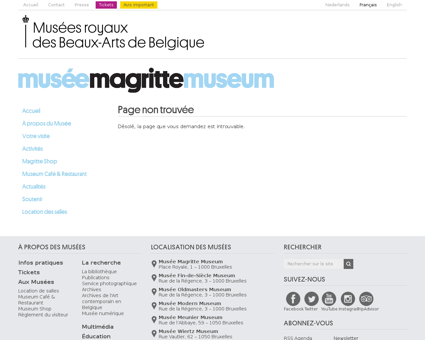 musee magritte museum.be Rene