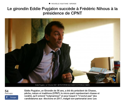 Le girondin eddie puyjalon succede frede Frederic