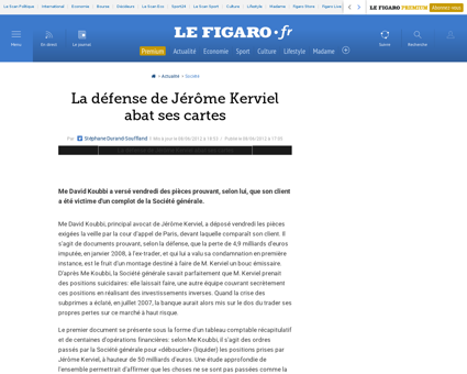 Societe generale  une enquete sensible d Jerome