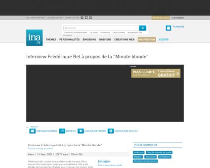 Interview frederique bel a propos de la  Frederique
