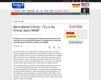 Bernadette Chirac Il y a du Chirac dans  Laurence
