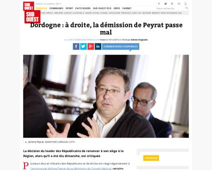 Dordogne a droite la demission de peyrat Jerome