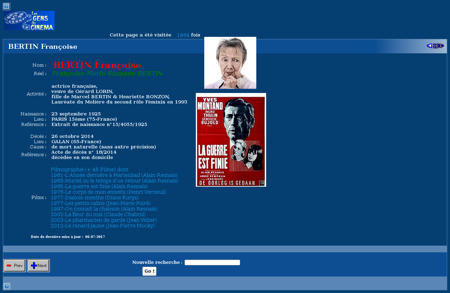 Recherche t r?type=PNP&pk=60270 Francoise