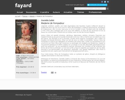 Madame de pompadour 9782213015163 Jeanne