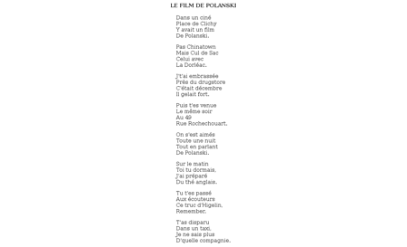 T film polanski Francoise