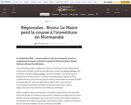 25001 20150217ARTFIG00405 regionales bru Francoise