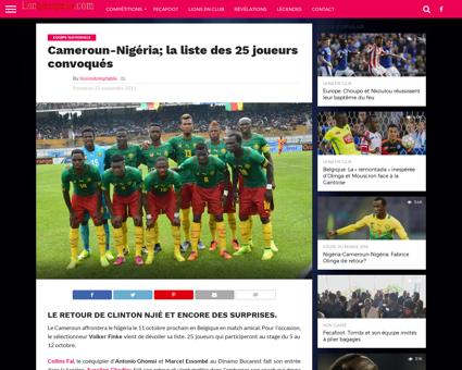 Cameroun nigeria la liste des 25 joueurs Sebastien