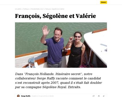 Francois segolene et valerie Segolene