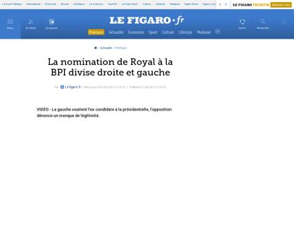 01002 20130221ARTFIG00648 la nomination  Segolene
