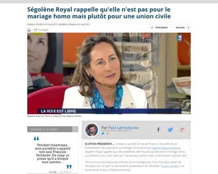 Segolene royal rappelle qu elle n est pa Segolene