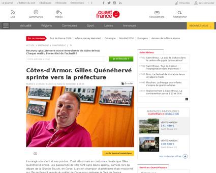ActuLocale  Cotes d Armor. Gilles Queneh Gilles