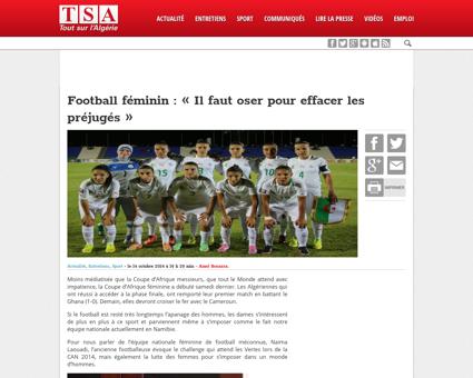 Football feminin naima laouadi il faut o Naima