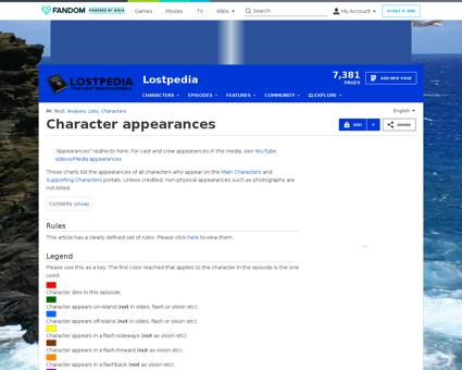 Character appearances Naomi