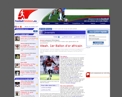 Football.articles.weah  1er ballon d or  Georges