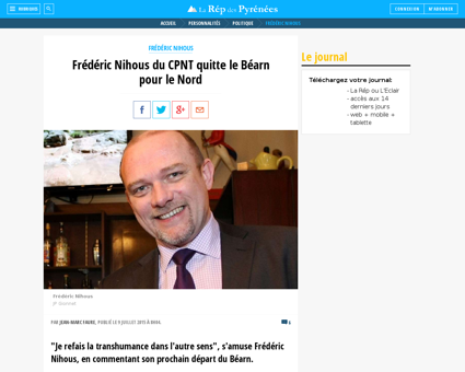 Frederic nihous cpnt repart dans le nord Frederic