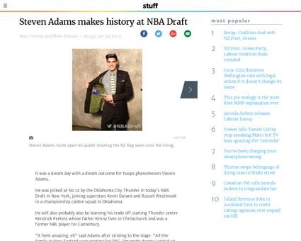 Steven Adams makes history at NBA Draft Steven