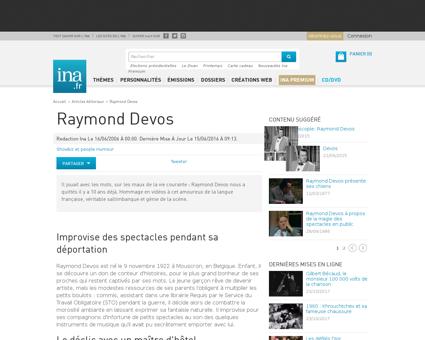 Une vie devos Raymond