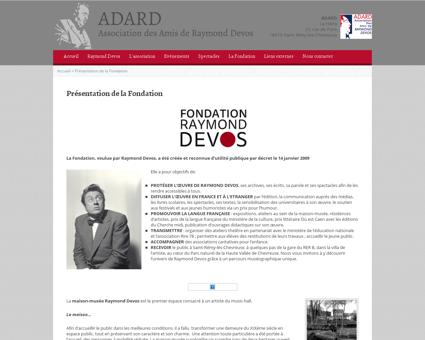Presentation de la fondation raymond dev Raymond